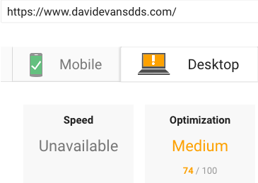 Google Page Speed Insights After Results