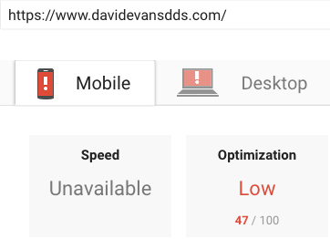 Google Page Speed Insights Before Results